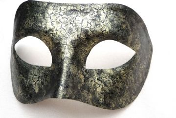 Genuine Venetian Exclusive Crackle Half Mask  (1) a
